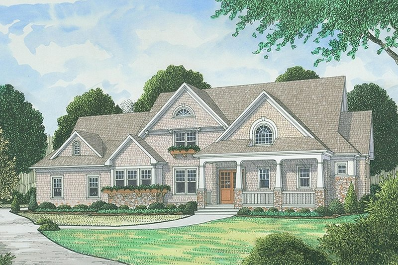 House Plan Design - Traditional Exterior - Front Elevation Plan #413-886