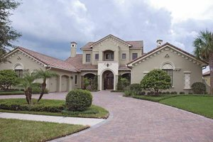 Home Plan - Mediterranean Exterior - Front Elevation Plan #1019-14