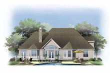 Traditional Exterior - Rear Elevation Plan #929-874