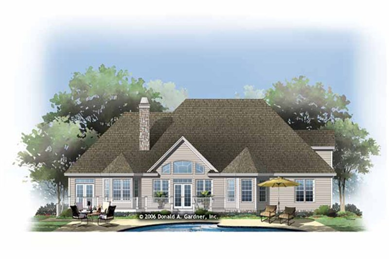 Traditional Exterior - Rear Elevation Plan #929-874 - Houseplans.com