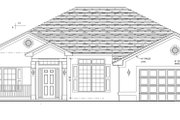 Ranch Style House Plan - 4 Beds 3 Baths 2508 Sq/Ft Plan #1058-28 Exterior - Front Elevation