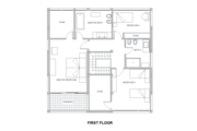 Modern Style House Plan - 3 Beds 3 Baths 2114 Sq/Ft Plan #542-4 Floor Plan - Upper Floor Plan