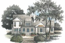 Architectural House Design - Colonial Exterior - Rear Elevation Plan #429-96