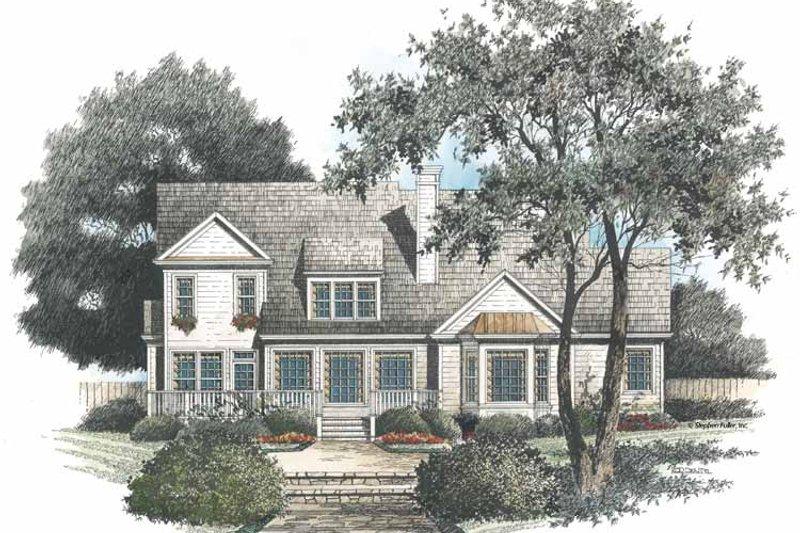 Colonial Exterior - Rear Elevation Plan #429-96 - Houseplans.com