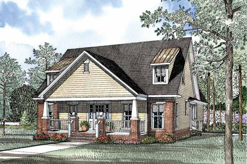 Dream House Plan - Craftsman Exterior - Front Elevation Plan #17-2950