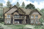 Craftsman Style House Plan - 7 Beds 5.5 Baths 4693 Sq/Ft Plan #17-2376 Exterior - Rear Elevation