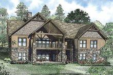 House Plan Design - Craftsman Exterior - Rear Elevation Plan #17-2376