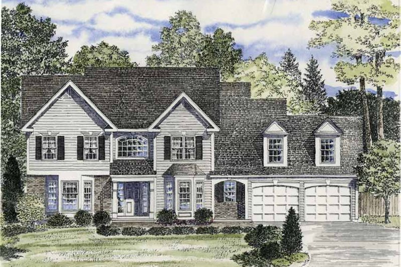 Colonial Exterior - Front Elevation Plan #316-166 - Houseplans.com