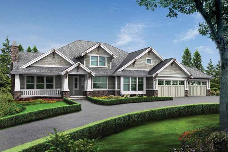 Craftsman Exterior - Front Elevation Plan #132-280 - Houseplans.com