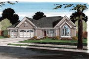 Modern Style House Plan - 3 Beds 2 Baths 1837 Sq/Ft Plan #312-878 Exterior - Front Elevation