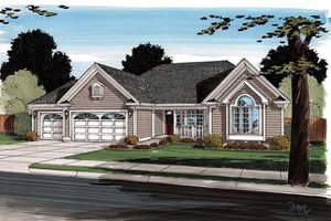 Modern Exterior - Front Elevation Plan #312-878