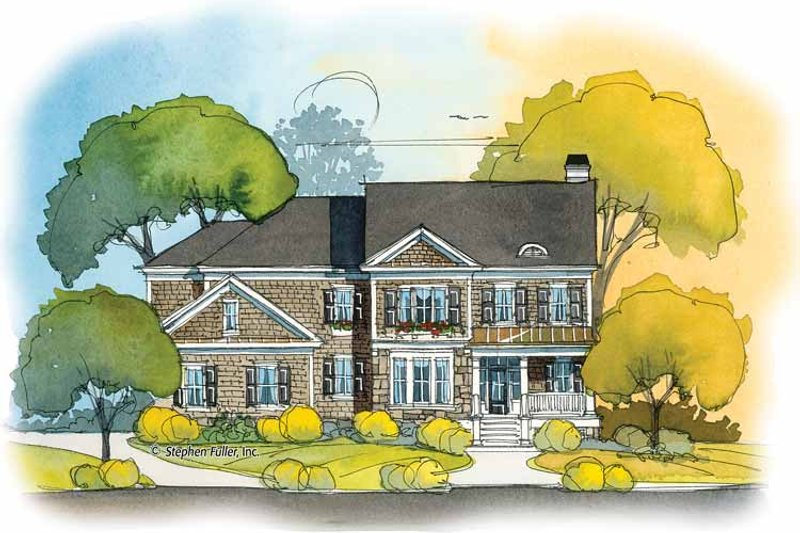 Colonial Exterior - Front Elevation Plan #429-396