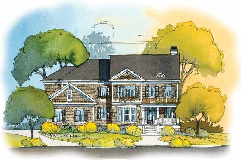 Colonial Exterior - Front Elevation Plan #429-396 - Houseplans.com