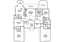 European Floor Plan - Upper Floor Plan Plan #119-423