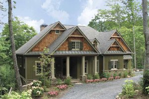 Architectural House Design - Craftsman Exterior - Front Elevation Plan #54-275