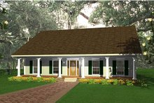 Dream House Plan - Country Exterior - Front Elevation Plan #44-139