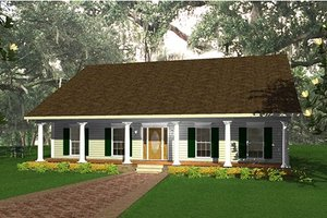 Country Exterior - Front Elevation Plan #44-139