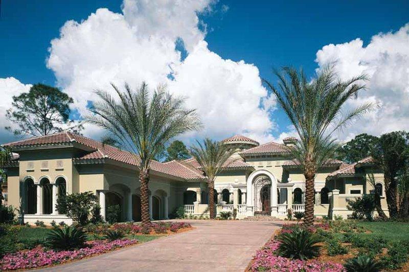 Architectural House Design - Mediterranean Exterior - Front Elevation Plan #930-325