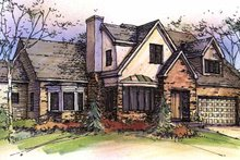 Architectural House Design - European Exterior - Front Elevation Plan #320-1426