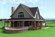 Country Style House Plan - 3 Beds 2.5 Baths 2252 Sq/Ft Plan #75-104 Exterior - Other Elevation
