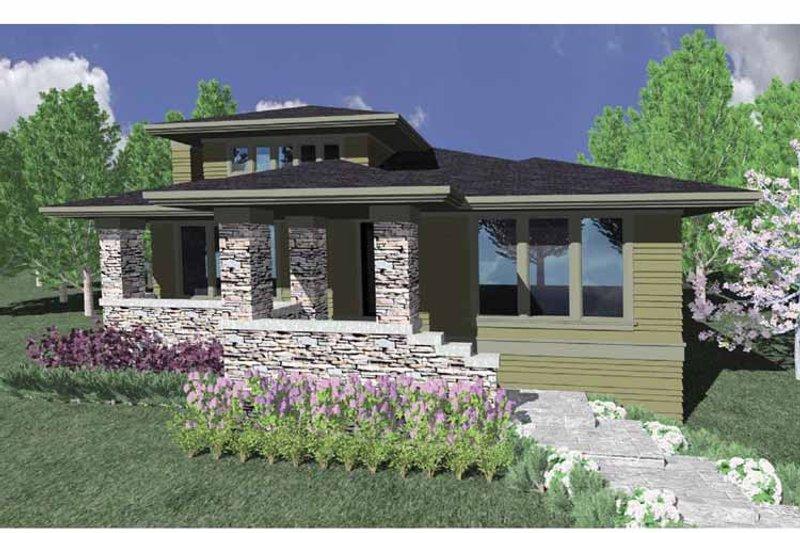 Prairie Exterior - Front Elevation Plan #509-172 - Houseplans.com
