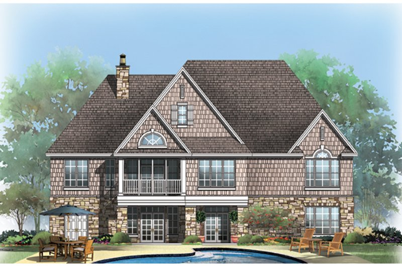 European Exterior - Rear Elevation Plan #929-921 - Houseplans.com