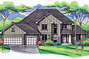 Colonial Exterior - Front Elevation Plan #51-1005