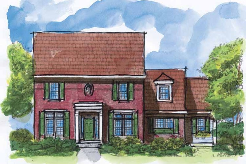 Colonial Exterior - Front Elevation Plan #320-928