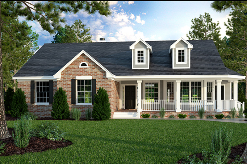 Country Exterior - Front Elevation Plan #472-149 - Houseplans.com