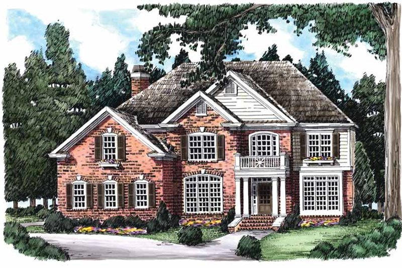 Colonial Exterior - Front Elevation Plan #927-578