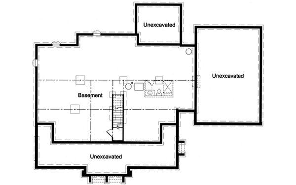 Country Floor Plan - Lower Floor Plan Plan #46-510