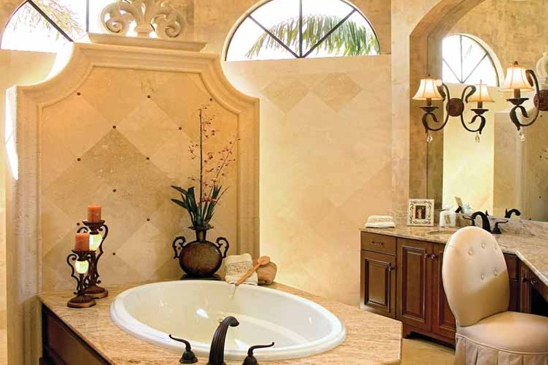 Mediterranean Interior - Bathroom Plan #930-353 - Houseplans.com