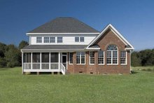 Dream House Plan - Country Exterior - Rear Elevation Plan #929-657