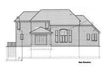 European Exterior - Rear Elevation Plan #46-254