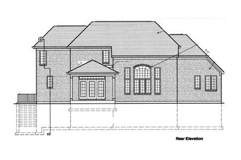 European Exterior - Rear Elevation Plan #46-254 - Houseplans.com
