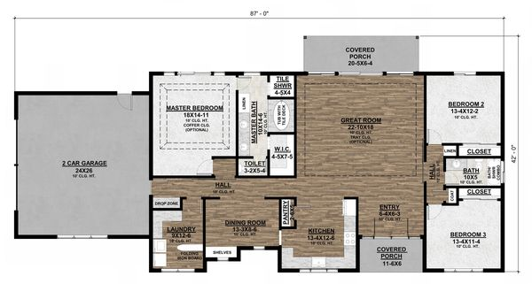 House Design - Alternate Floor Plan - Optional Side-Entrance Garage