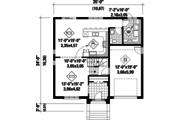 European Style House Plan - 3 Beds 1 Baths 1994 Sq/Ft Plan #25-4261 Floor Plan - Main Floor Plan
