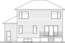 Contemporary Exterior - Rear Elevation Plan #23-2706