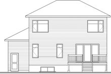 Architectural House Design - Contemporary Exterior - Rear Elevation Plan #23-2706