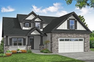 Craftsman Exterior - Front Elevation Plan #124-1201