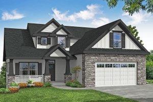 Craftsman Exterior - Front Elevation Plan #124-1201