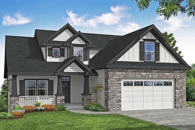 House Plan Design - Craftsman Exterior - Front Elevation Plan #124-1201