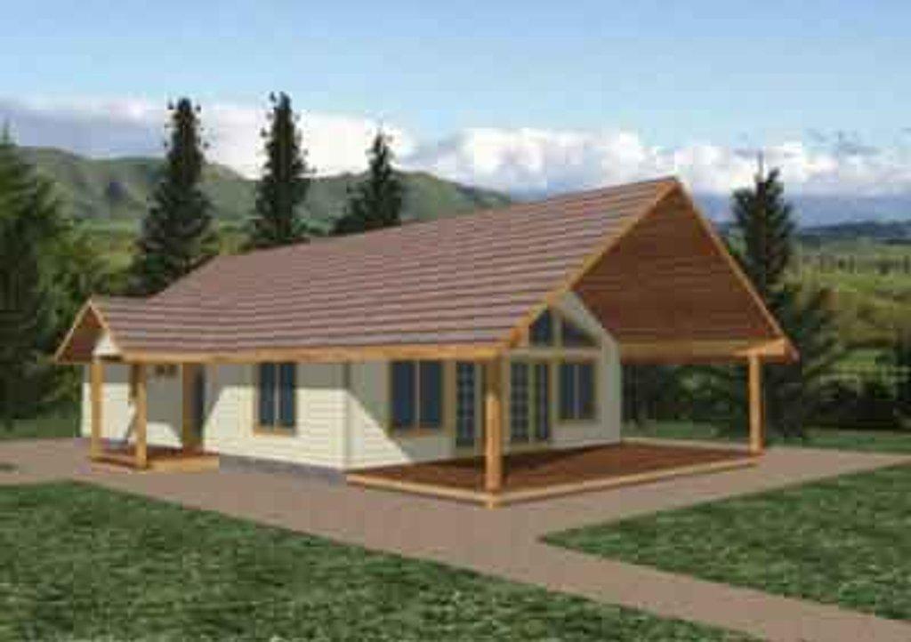 Modern Exterior Front Elevation Plan 117 244
