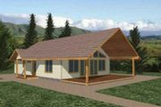 Modern Style House Plan - 2 Beds 1 Baths 1120 Sq/Ft Plan #117-244