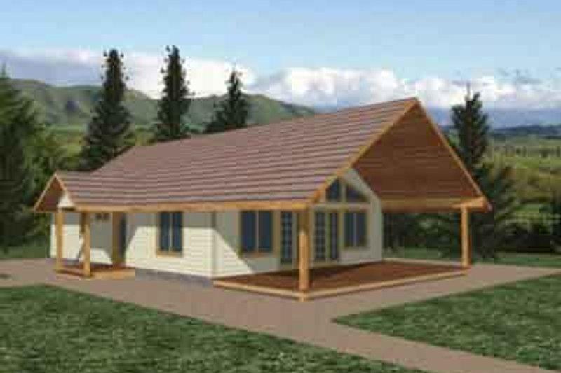 Modern Exterior - Front Elevation Plan #117-244
