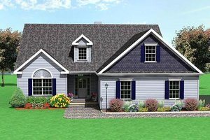 Traditional Exterior - Front Elevation Plan #75-115