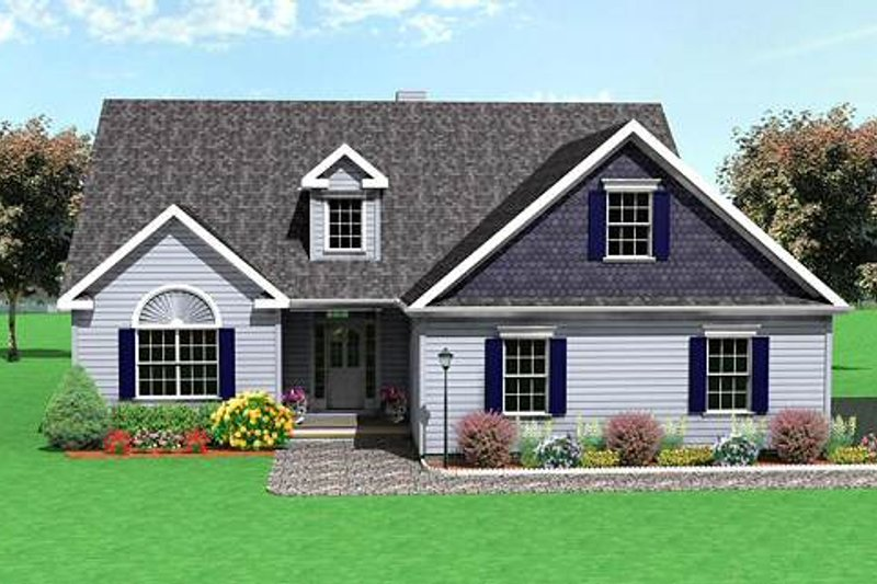 Traditional Style House Plan - 3 Beds 2.5 Baths 2270 Sq/Ft Plan #75-115 Exterior - Front Elevation