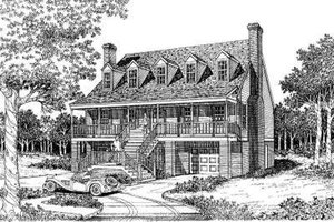 Country Exterior - Front Elevation Plan #322-121