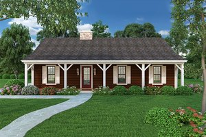 Home Plan Design - Country Exterior - Front Elevation Plan #45-255