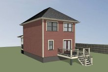 Dream House Plan - Cottage Exterior - Rear Elevation Plan #79-121